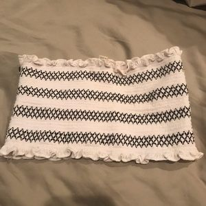 Urban Outfitters white and black bandeau top